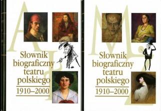 logo Słownik biograficzny teatru polskiego, tom III: 1910-2000, cz.1-2