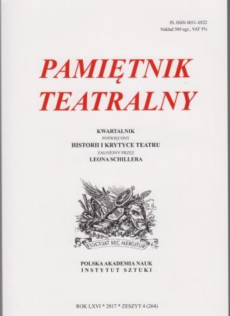 zdjęcie Pamiętnik Teatralny  2017/4