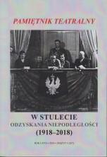 logo Pamiętnik Teatralny  2018/3. W stulecie odzyskania niepodległości (1918-2018)