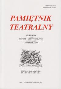 logo Pamiętnik Teatralny 2018/4