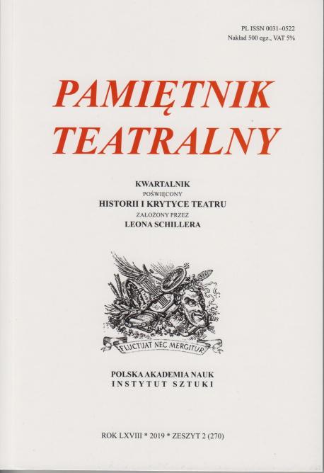 zdjęcie Pamiętnik Teatralny