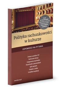 logo Polityka rachunkowości w kulturze. Odpowiedzi na pytania