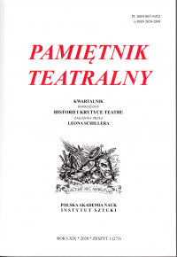 logo Pamiętnik Teatralny 2020/1