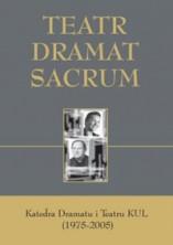logo Teatr. Dramat. Sacrum. Katedra Dramatu i Teatru KUL (1975-2005)