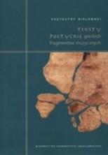 logo Teksty poetyckie greckich fragmentów muzycznych