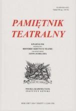 logo Pamiętnik Teatralny 2014/1-2