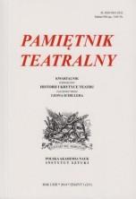 logo Pamiętnik Teatralny 2014/03. Shakespeare 450, czyli Jak Nam Się Podoba