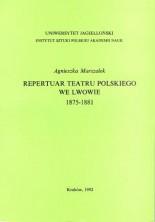 logo Repertuar Teatru Polskiego we Lwowie 1875-1881