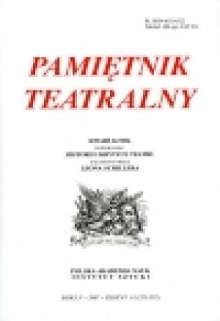 zdjęcie Pamiętnik Teatralny 3-4/2007 Teatr Stanisława Wyspianskiego