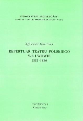 zdjęcie Repertuar Teatru Polskiego we Lwowie 1881-1886