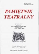logo Pamiętnik Teatralny  2009 nr 1-2