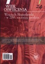 logo Wiek Oświecenia, t.24. Wojciech Bogusławski - w 250 rocznicę urodzin