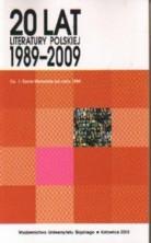logo 20 lat literatury polskiej 1989-2009. Cz.1: Życie literackie po roku 1989