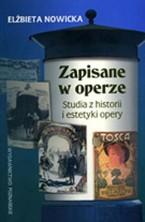 logo Zapisane w operze. Studia z historii i estetyki opery.