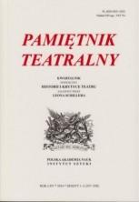 logo Pamiętnik Teatralny 2016/1-2