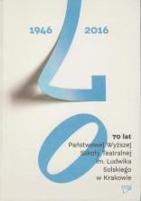 logo 70 lat Państwowej Wyższej Szkoły Teatralnej im. Ludwika Solskiego w Krakowie